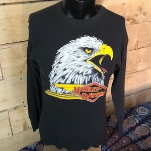 Vintage Harley Davidson long sleeve thermal. XL